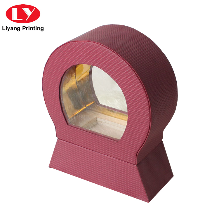 purple cosmetic paper box handle bulk production for brush-4