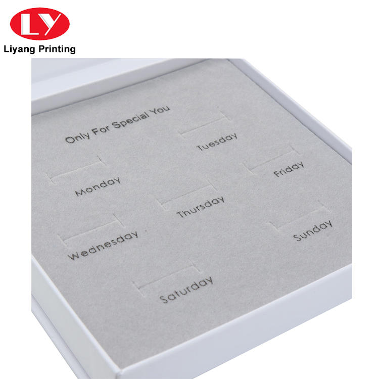 touch paper jewelry box for gift Liyang Paper Packaging