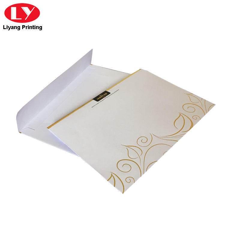 Gold Logo C5 Envelope with Clear PVC Window