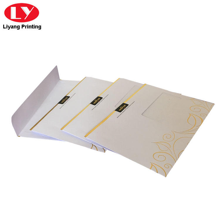 Liyang Paper Packaging two pockets presentation folders printing factory price sticker label