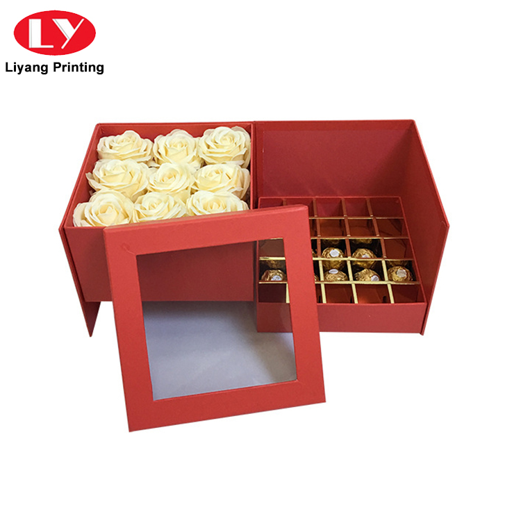 Hot Sale Handmade Fancy Design Chocolate Truffle Gift Packaging Box with Lid-4