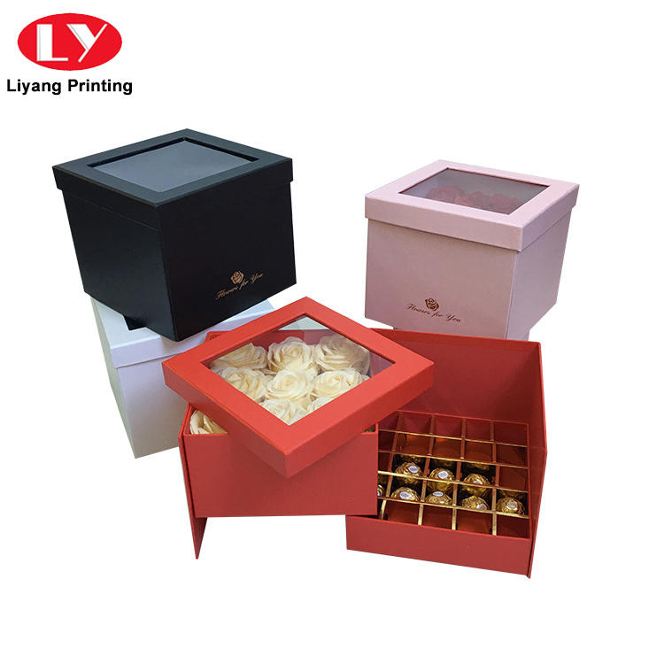 Hot Sale Handmade Fancy Design Chocolate Truffle Gift Packaging Box with Lid