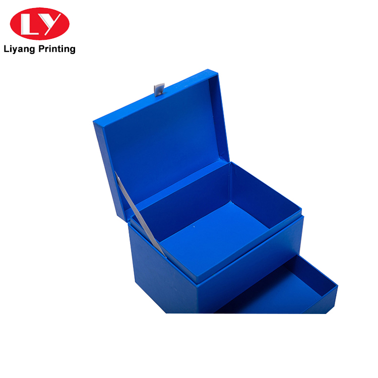 Luxury high quality paper cardboard gift storage box with drawer-4