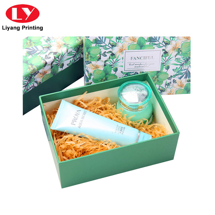 Lid and Base CMYK Printing Logo Cosmetic Makeup Paper Packing Box