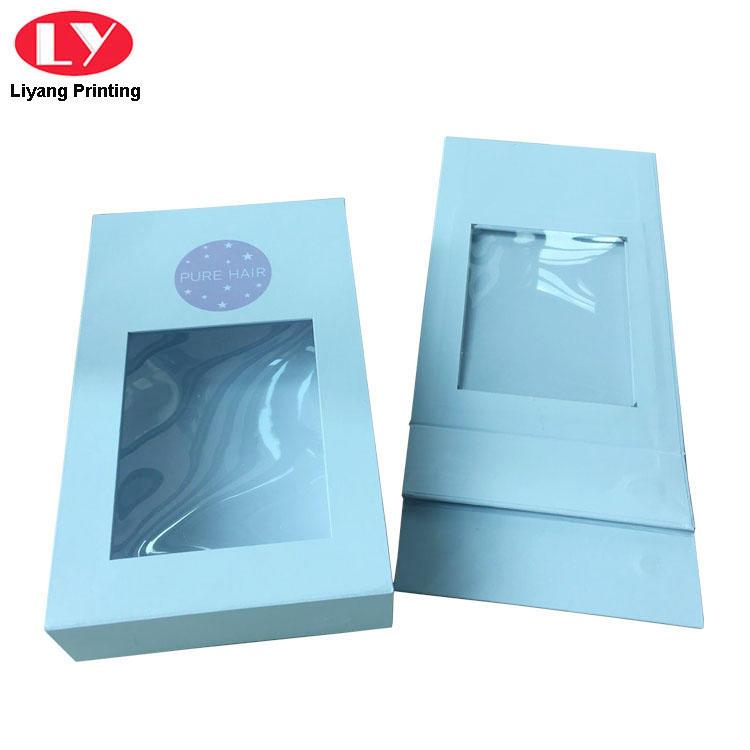 Custom Logo Magnetic Gift Box Window Box Packaging