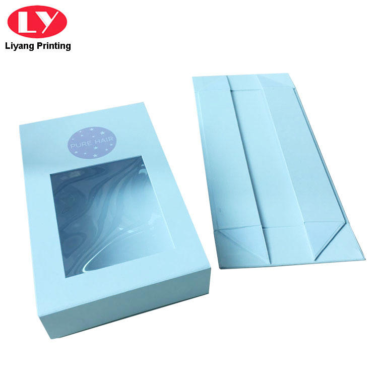 Custom Logo Magnetic Gift Box Window Box Packaging