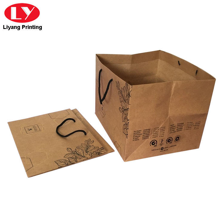 Liyang Paper Packaging logo printed recycled paper bags free sample for lady