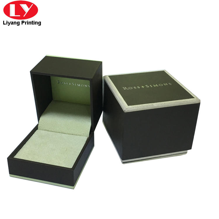 Small square ring box with lid