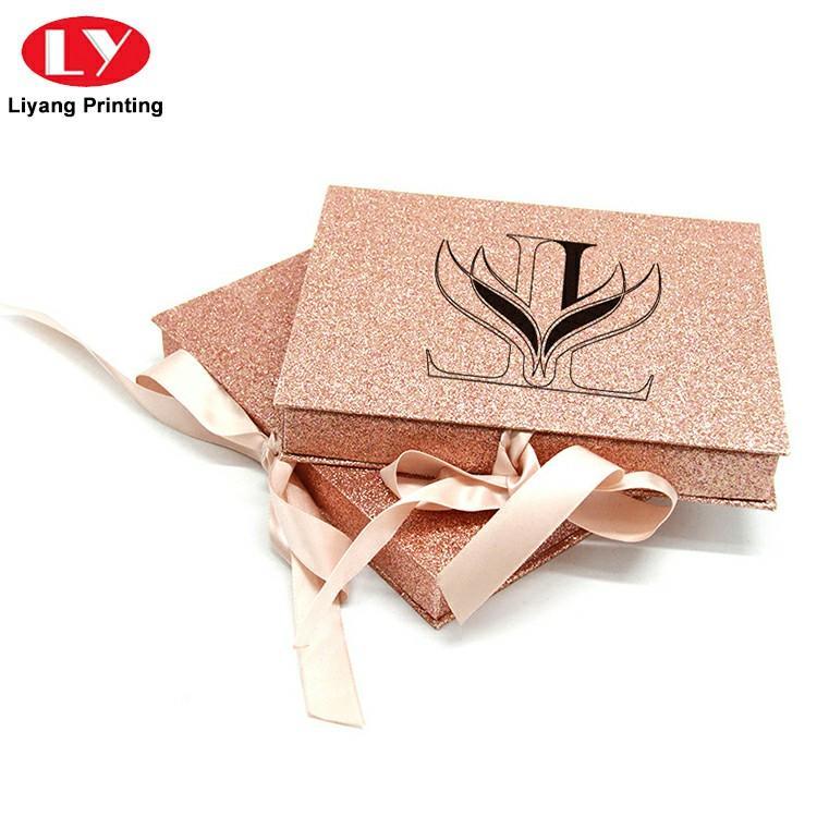 2019 New Custom Glitter Paper Cosmetic False Eyelash Packaging Box
