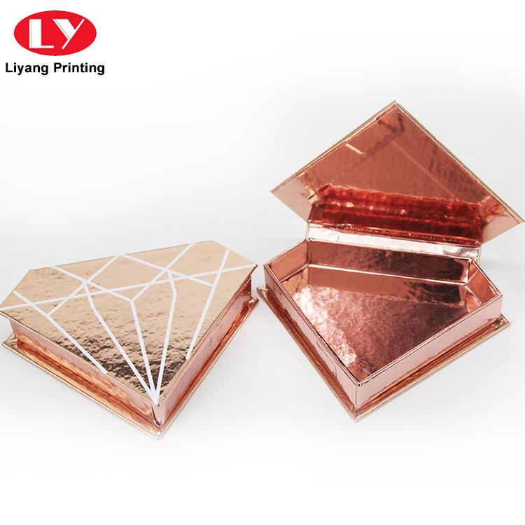 Handmade Rigid Cosmetic Gift Packing Diamond Empty Eyelash Box