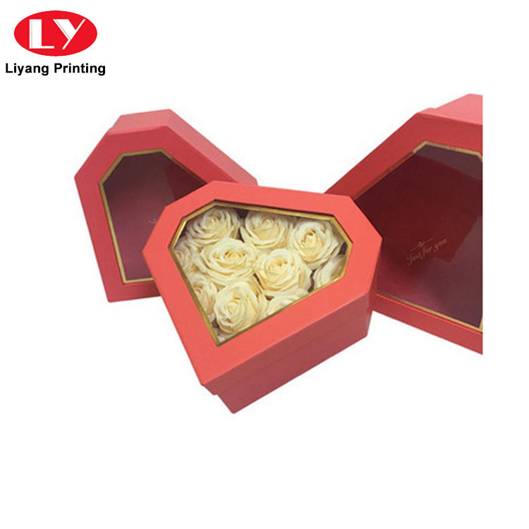 Liyang Paper Packaging printed cardboard flower boxes square shape for gift packing
