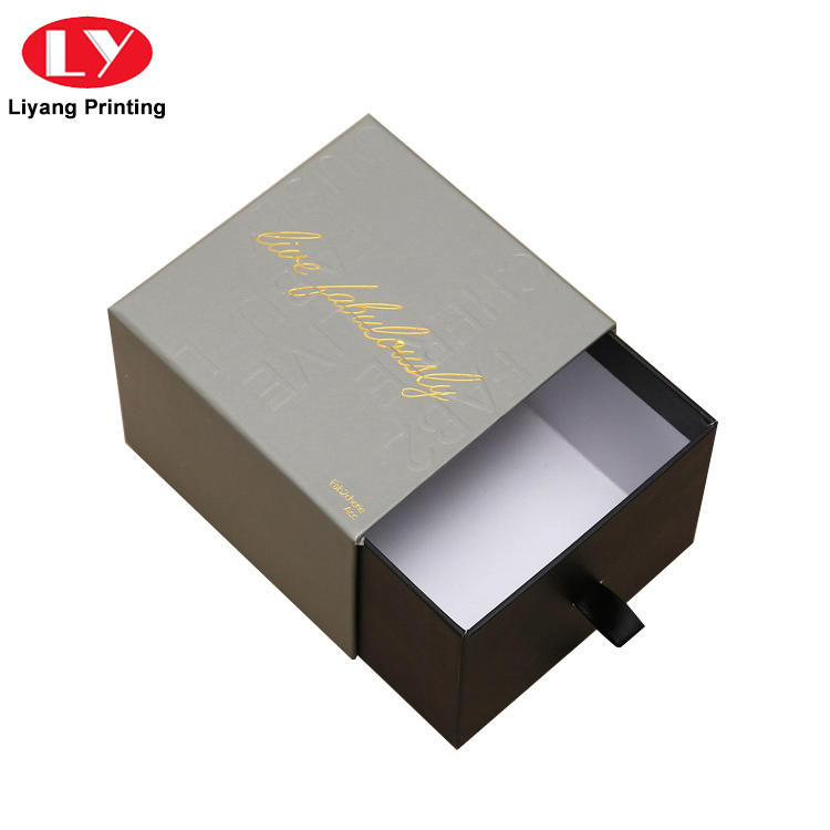 silver magnetic closure gift box fashion design for soap Liyang Paper Packaging
