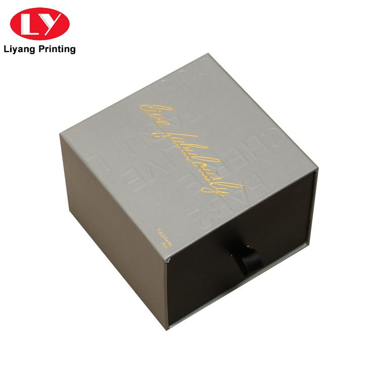 China Manufacturer Elegant Cardboard Paper Sliding Drawer Box for Gift Packing-5