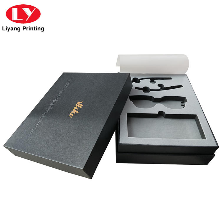 OEM Rigid Hard Cardboard Paper Gift Box with Foam Insert