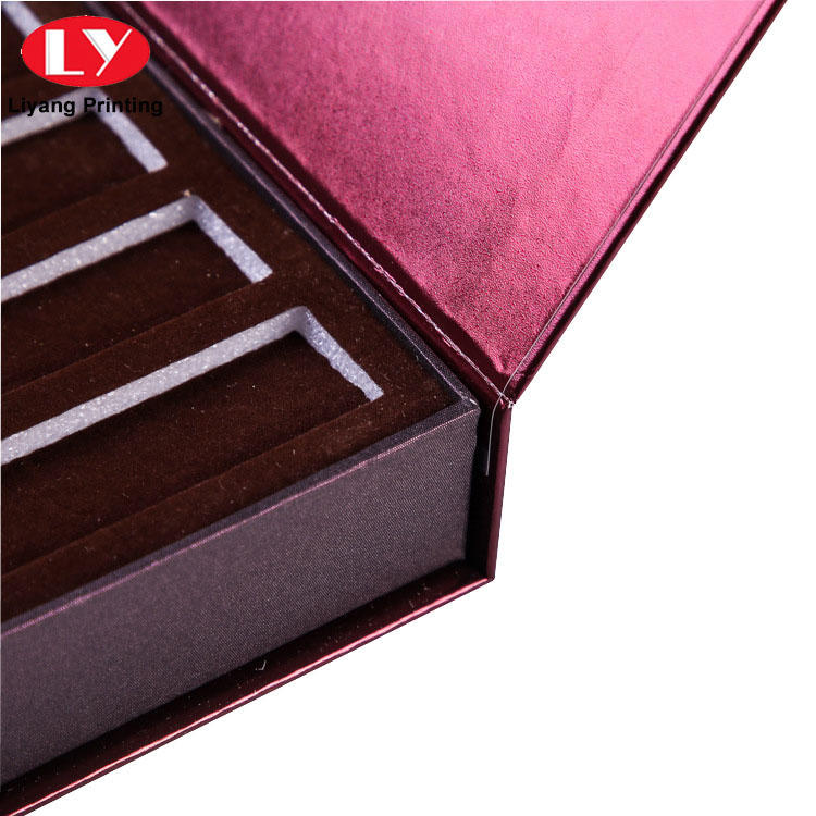 Wholesale custom printed rigid perfume packaging box gift boxes with foam insert