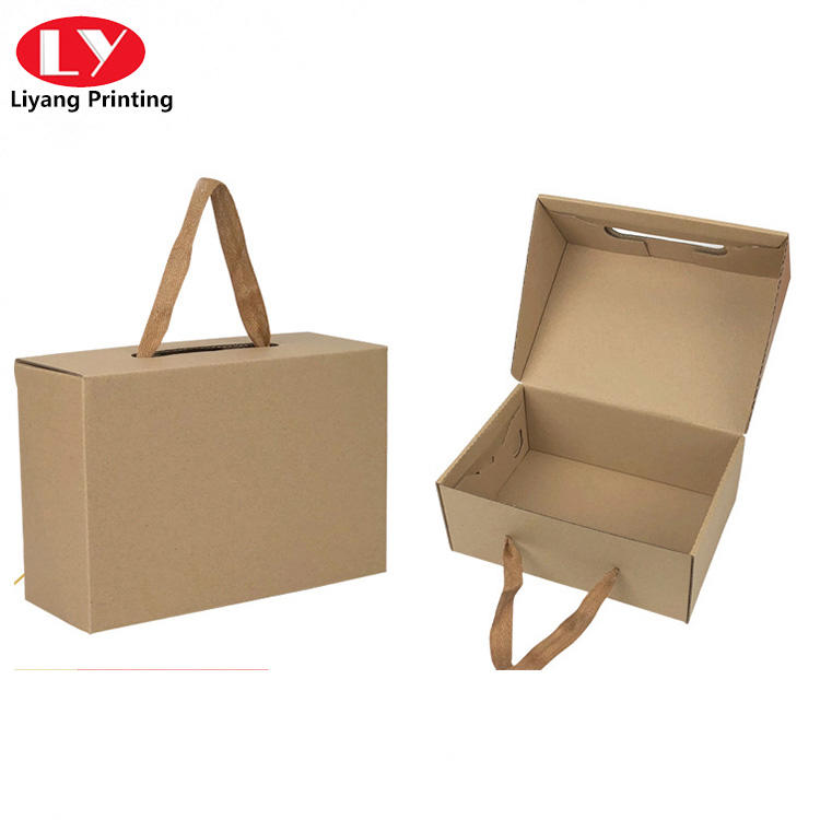 foldable packaging shoe paper box with string