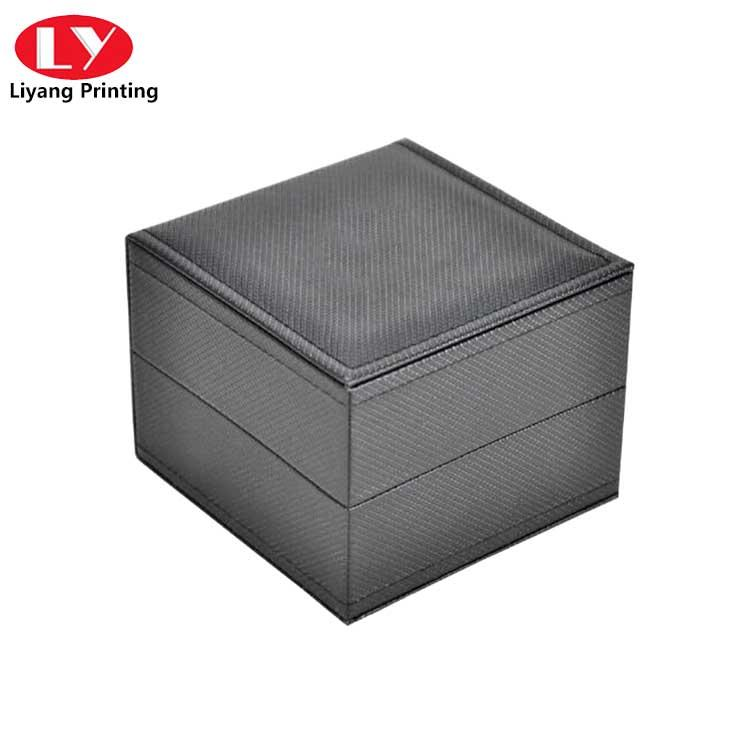 Color customized watch packaging box with PU