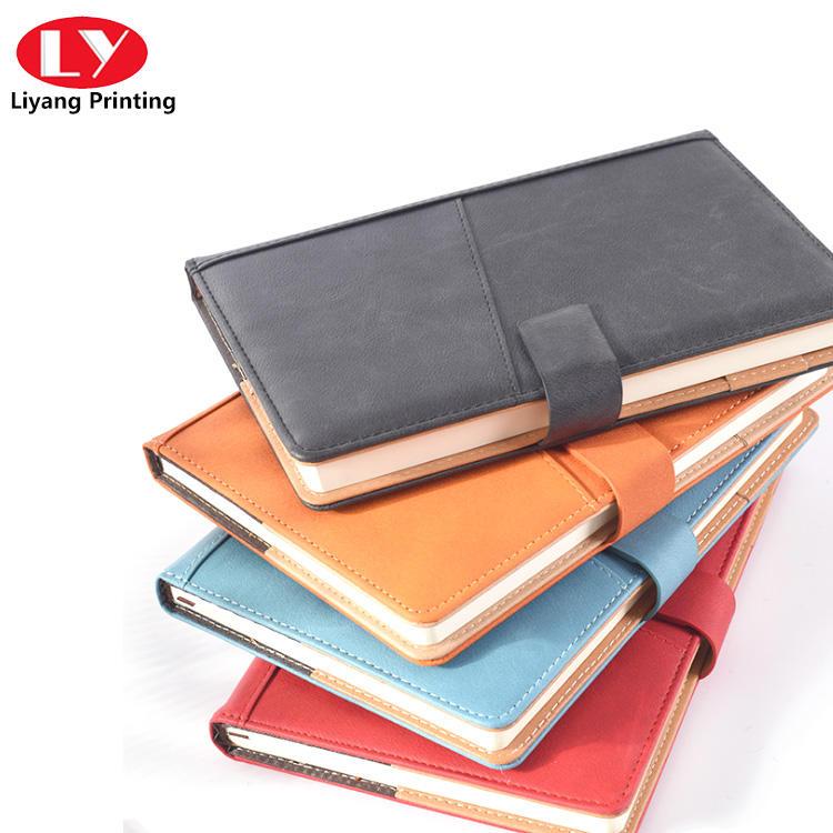 notebook a5 soft PU and leather custom book