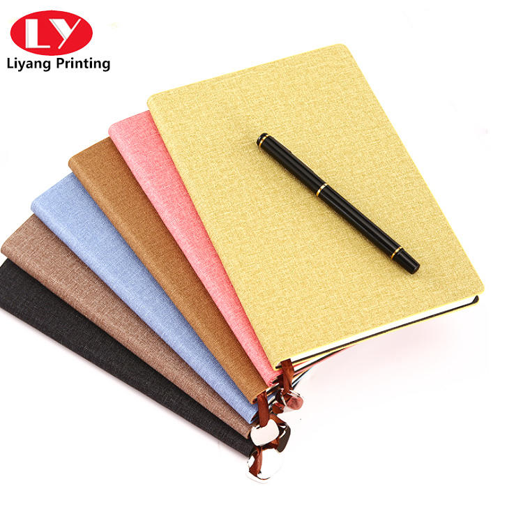 Luxury Textile Cover Diary Notebook Printing