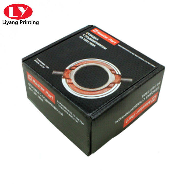 black corrugated Cardboard Box for Auto Parts