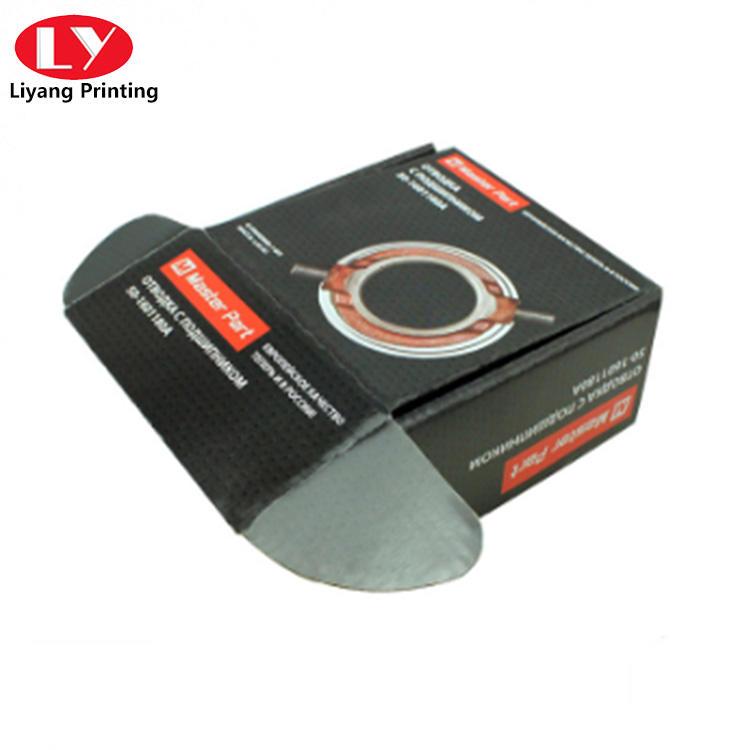 black corrugated Cardboard Box for Auto Parts