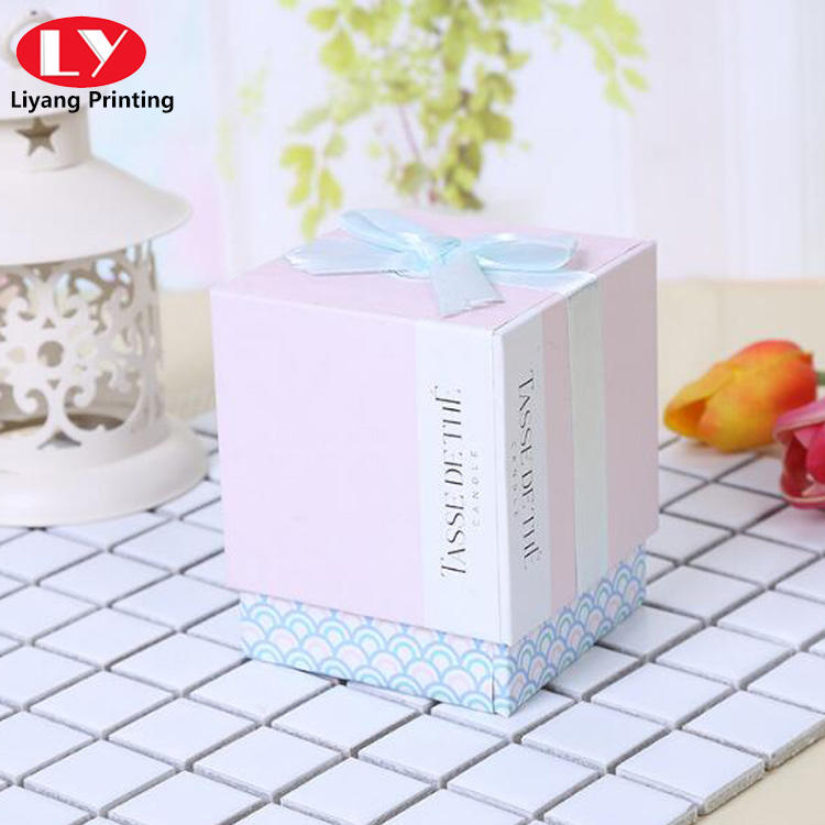 colorful gift box with ribbon gold foil