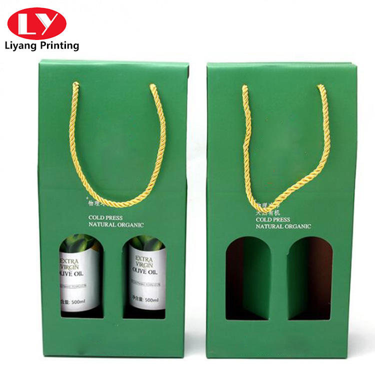 Double Green bottle wine set packaging box