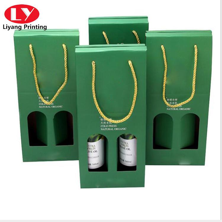 Double Green bottle wine set packaging box