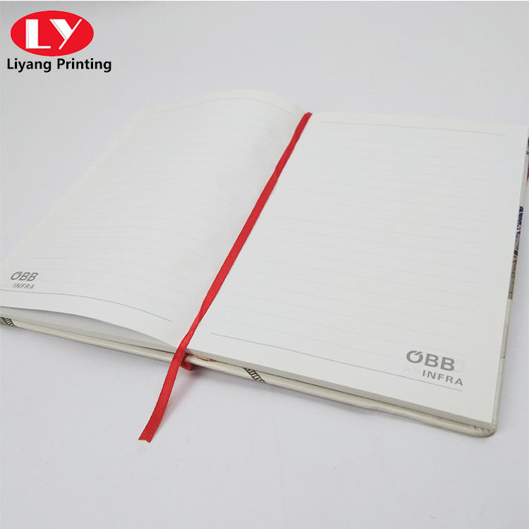 School children notebook with CMYK elastic belt