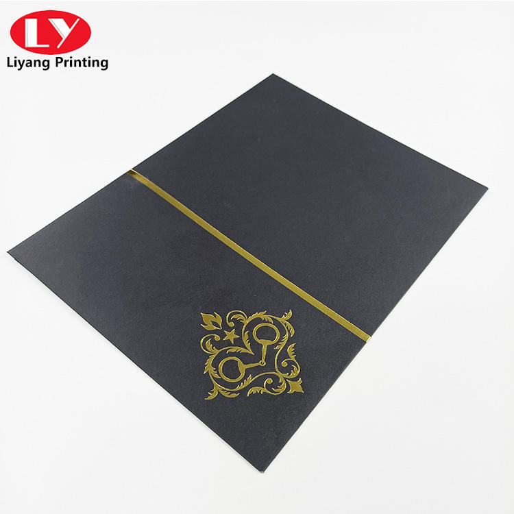 High level and quality custom elegant envelope with hot stamping