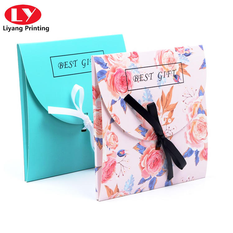 Special envelope with ribbon for silk scarf