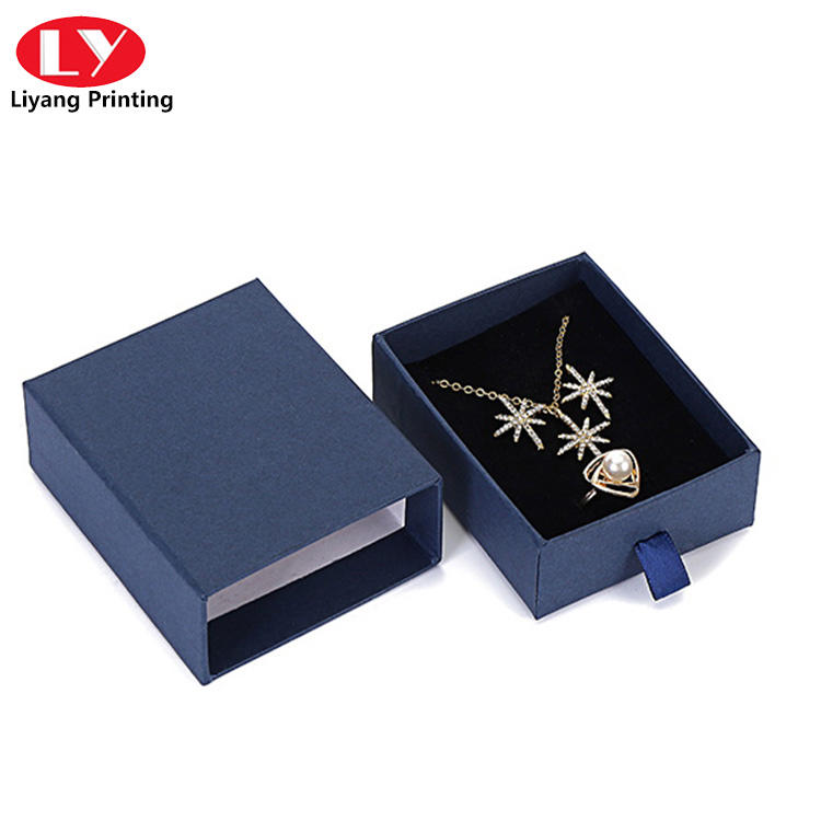 custom logo printed small jewelry boxes for necklace