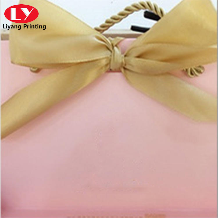 special bucket shape handle bag for shopping paper bag
