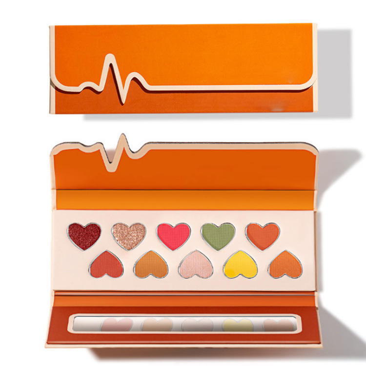 special type irregular shape eyeshadow palette packaging box