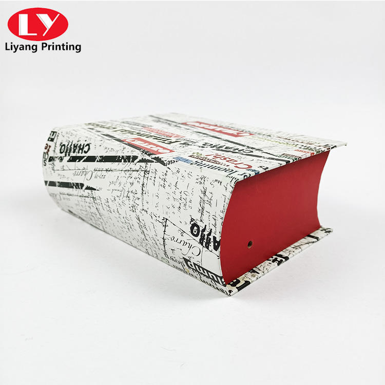 Special shape book gift box offset printing paper cardboard display handmade box