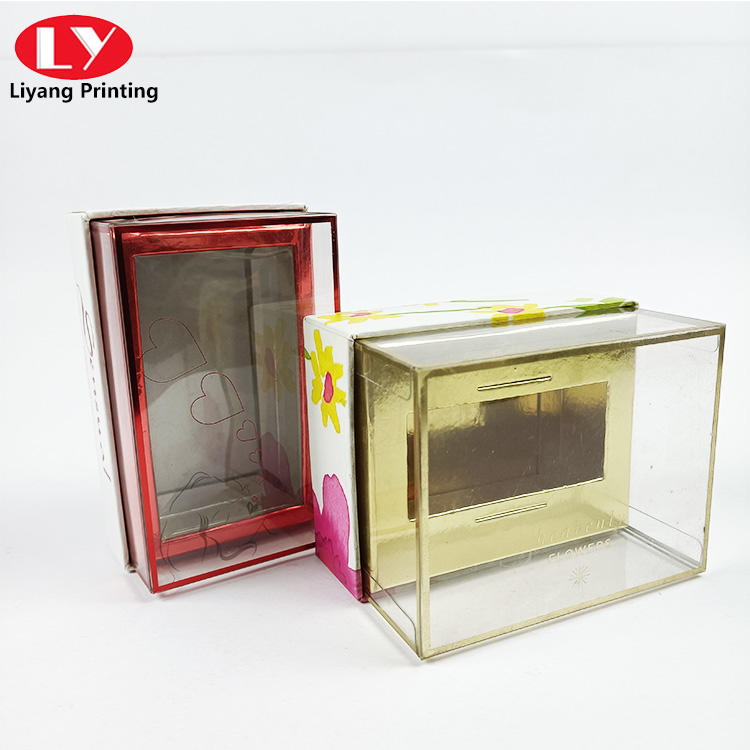 creative design small candle packaging box lipstick gift with clear lid perfume box