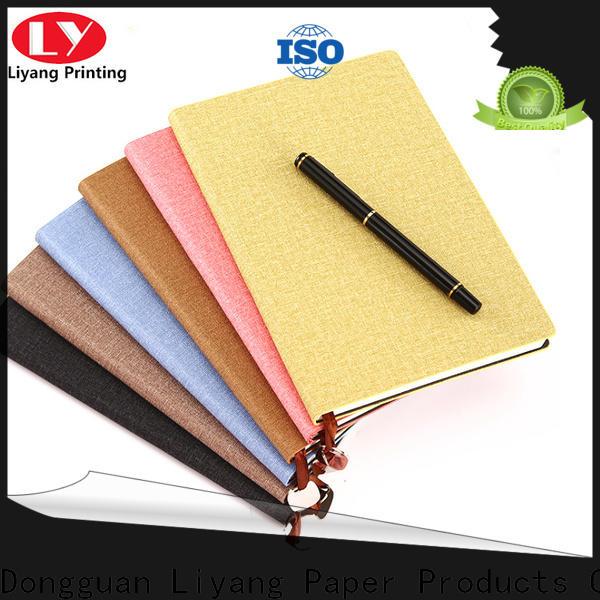 Liyang Paper Packaging logo printed paper notebook special offer bespoke service