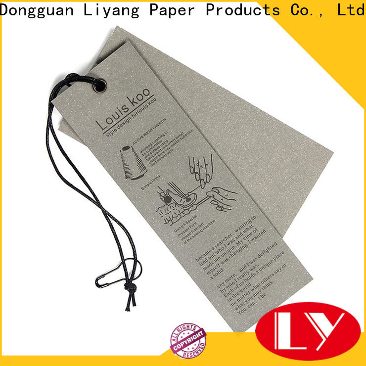 Liyang Paper Packaging custom design personalized tags factory direct supply fast delivery