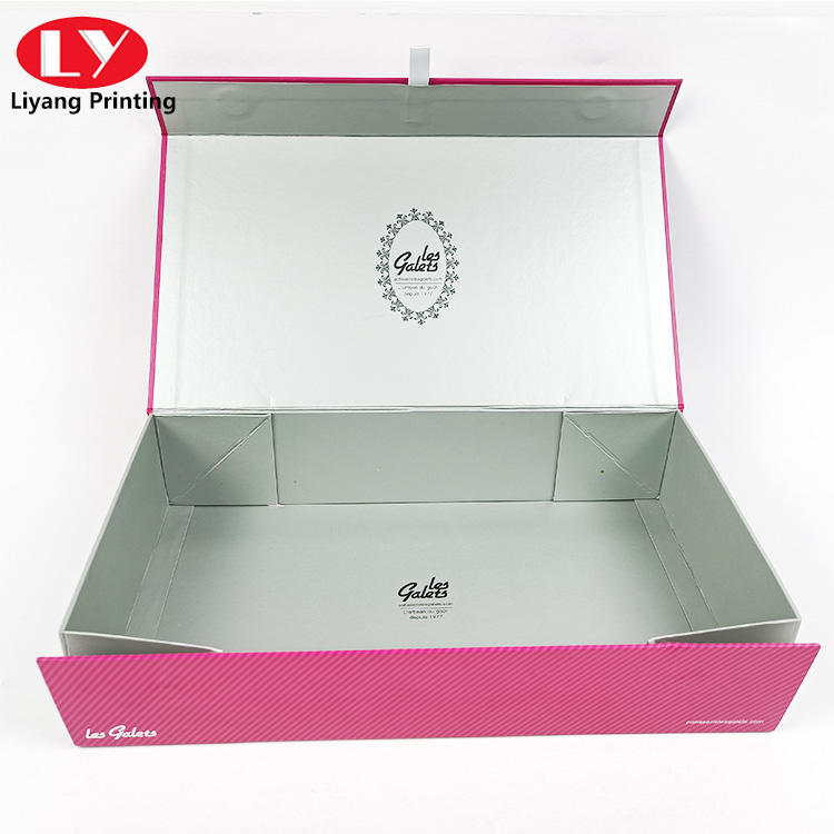 high quality s set of glass cups packaging gift box or makeup pink gift box