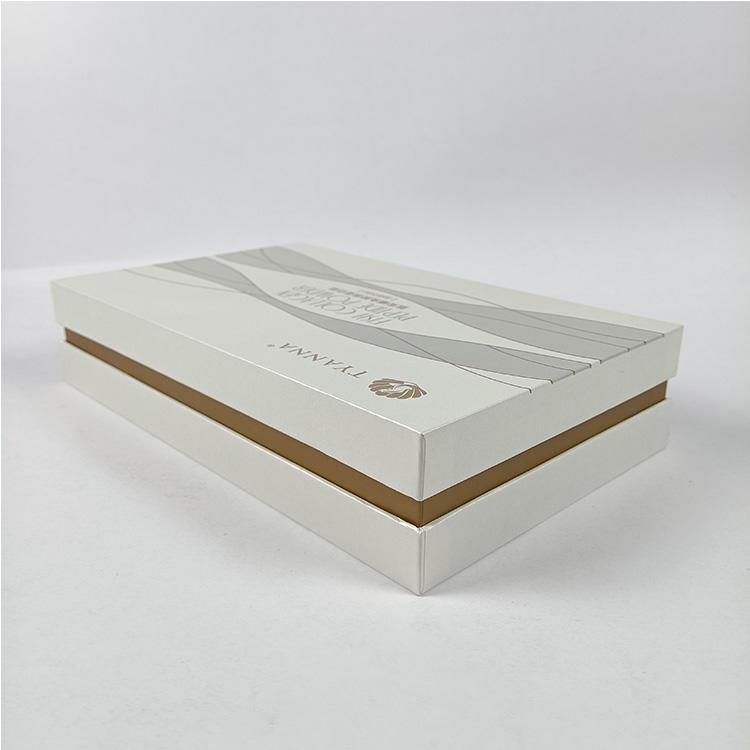 Hot Sale Custom Luxury Rigid Cardboard Lid and Base Skincare Box with Paper Cardboard Insert