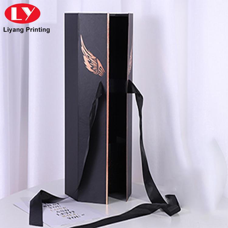 high grade custom luxury logo printed full color flower gift box with ribbon
