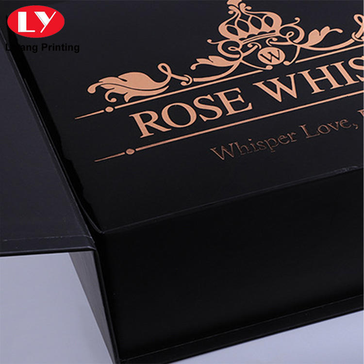 high grade custom luxury logo printed full color flower gift box with ribbon