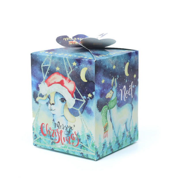 Christmas Apple packaging Gift Box Special Shape with Handle Colorful Food Packaging Box