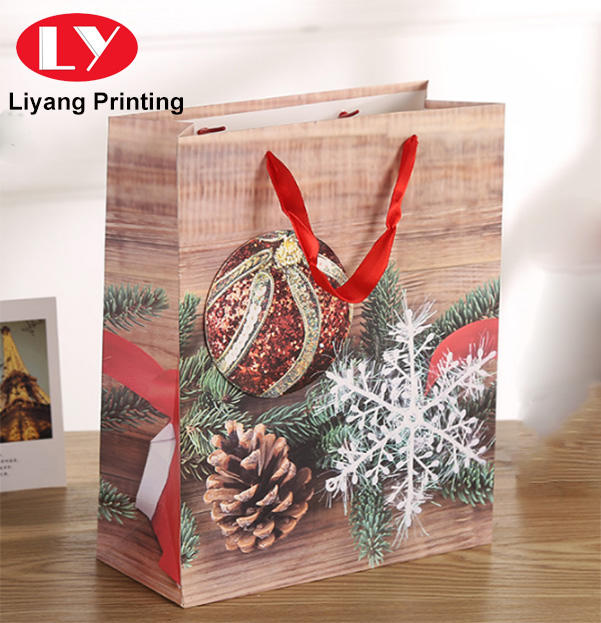 Festival gift paper bag for Christmas snack candy