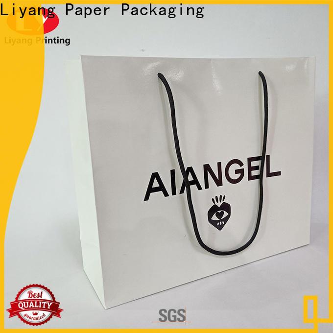 Liyang Paper Packaging high-grade paper shopping bags logo printed for cake