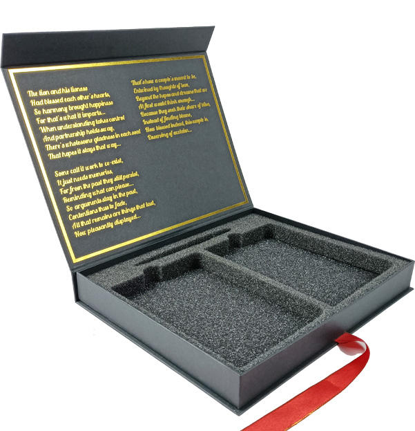 Luxury custom magnetic foil packaging cosmetic box
