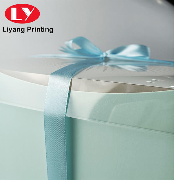 birthday cake gift packaging box with window