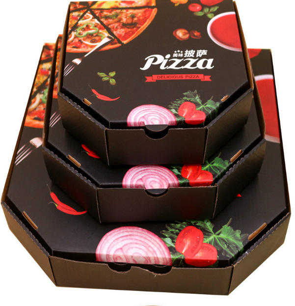 Wholesale Custom Printed Big Factory Full Color Printing Food Paper Pizza Box Paper Box Packaging