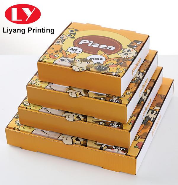 Wholesale Custom Printed Big Factory Full Color Printing Food Paper Pizza Box Paper Box Packaging