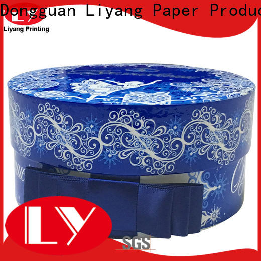 Liyang Paper Packaging high quality round gift box all sizes for xmas